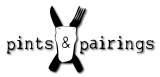 Pints and Pairings Logo - Black