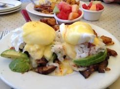Crab Poached Eggs - Sandbar & Grill