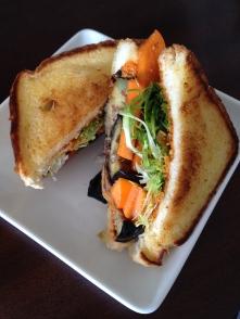 Persimmon & Eggplant Panini - Scratch Food Truck