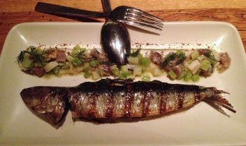 Sardine (grilled and raw) - Bar Agricole