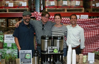 Jason Russell (Bee's Knees Specialities), John & Jennifer Wheir (Beacon Coffee), Jason Hendrick (Everybody's Hungry)